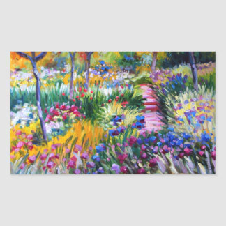 Claude Monet: Iris Garden by Giverny Sticker
