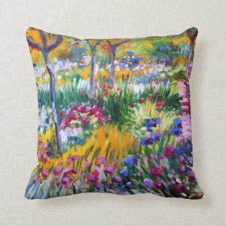 Claude Monet: Iris Garden by Giverny Throw Pillow
