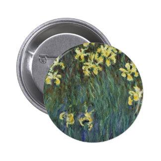 Claude Monet - iris jaunes Badge