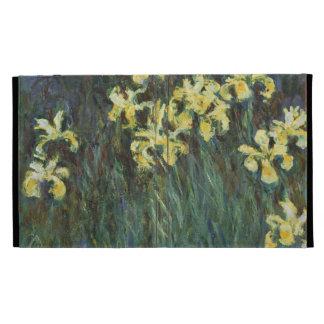 Claude Monet - iris jaunes Coque Folio iPad