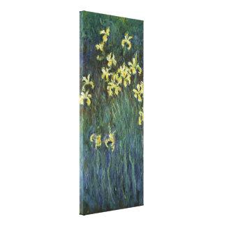 Claude Monet - iris jaunes Toile Tendue