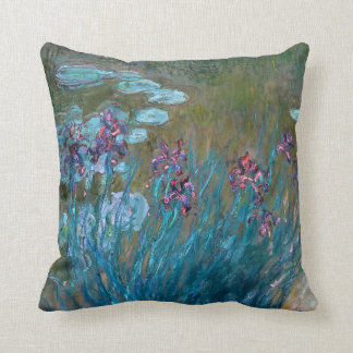 Claude Monet: Irises and Water Lilies Throw Pillow