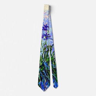 Claude Monet: Irises, beautiful floral painting Tie