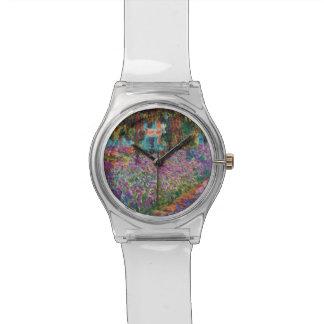 Claude Monet - Irises in Monet's Garden Fine Art Wrist Watch