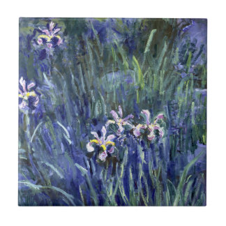 Claude Monet: Irises Tile