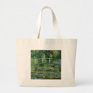 Claude Monet - Japanese Bridge Large Tote Bag
