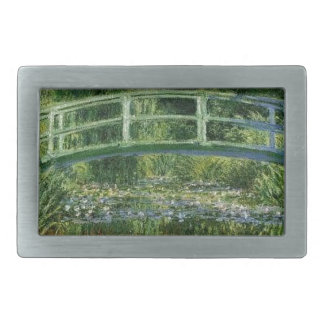 Claude Monet - Japanese Bridge Rectangular Belt Buckles