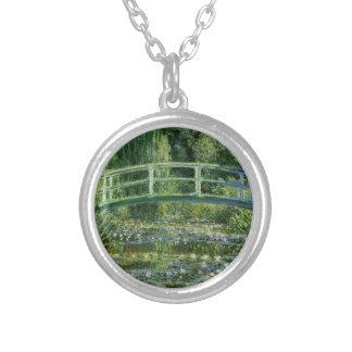 Claude Monet - Japanese Bridge Silver Plated Necklace