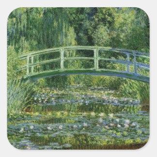 Claude Monet - Japanese Bridge Square Sticker