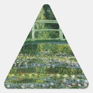 Claude Monet - Japanese Bridge Triangle Sticker