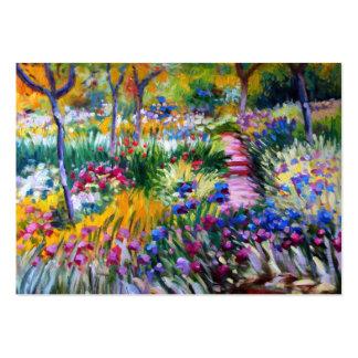 Claude Monet : Jardin d'iris par Giverny Carte De Visite