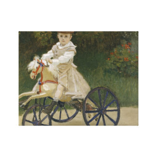 Claude Monet - Jean Monet on his Hobby Horse Canvas Print