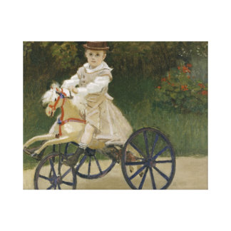 Claude Monet - Jean Monet on his Hobby Horse Canvas Print