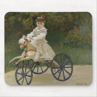 Claude Monet - Jean Monet on his Hobby Horse Mouse Pad