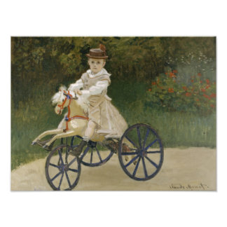 Claude Monet - Jean Monet on his Hobby Horse Photograph