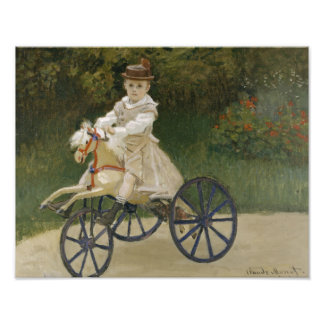 Claude Monet - Jean Monet on his Hobby Horse Photographic Print