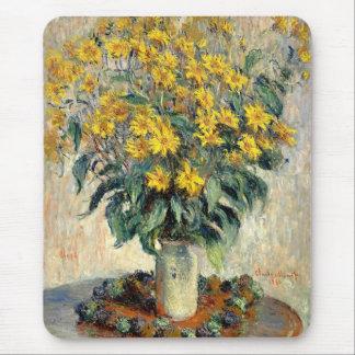 Claude Monet Jerusalem Artichoke Flowers 1880 Mouse Pad