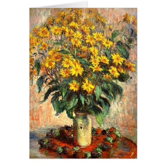 Claude Monet: Jerusalem Artichokes Card