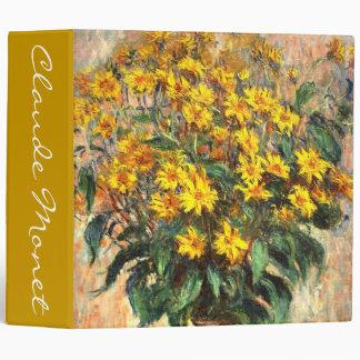 Claude Monet: Jerusalem Artichokes Vinyl Binder