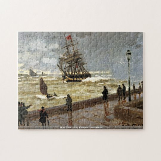 Claude Monet - Jetty of le Havre in bad weather Jigsaw Puzzle