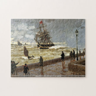 Claude Monet - Jetty of le Havre in bad weather Puzzle