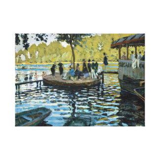 Claude Monet La Grenouillère Canvas Print