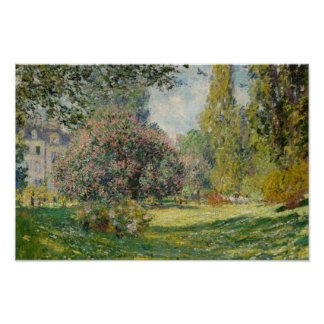 Claude Monet - Landscape: The Parc Monceau Poster