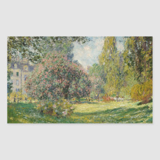 Claude Monet - Landscape: The Parc Monceau Sticker