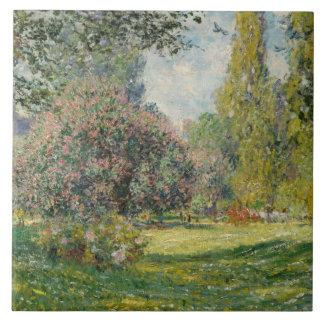 Claude Monet - Landscape: The Parc Monceau Tile