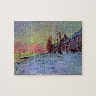 Claude Monet - Lava Court - sunshine and snow Jigsaw Puzzle