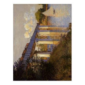 Claude Monet le pont de chemin de fer à Argenteuil Cartes Postales