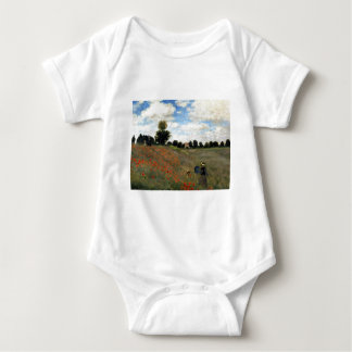 Claude Monet - Les Coquelicots Baby Bodysuit
