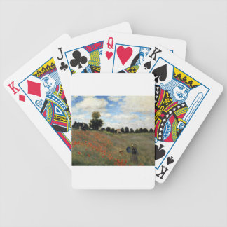 Claude Monet - Les Coquelicots Bicycle Playing Cards