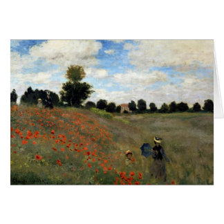Claude Monet - Les Coquelicots Card