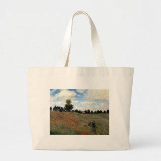 Claude Monet - Les Coquelicots Large Tote Bag