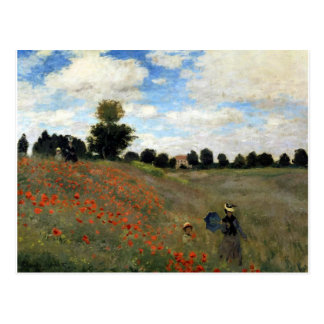 Claude Monet - Les Coquelicots Postcard