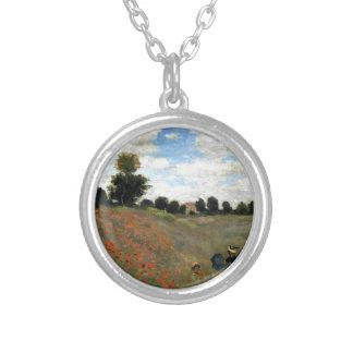 Claude Monet - Les Coquelicots Silver Plated Necklace