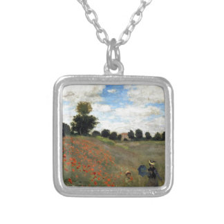 Claude Monet - Les Coquelicots Silver Plated Necklace