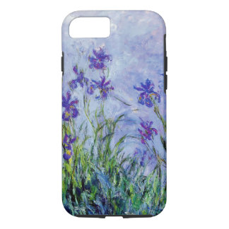 Claude Monet Lilac Irises Vintage Floral Blue iPhone 8/7 Case