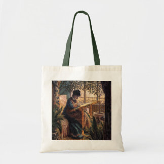 Claude Monet: Madame Monet Embroidering Budget Tote Bag