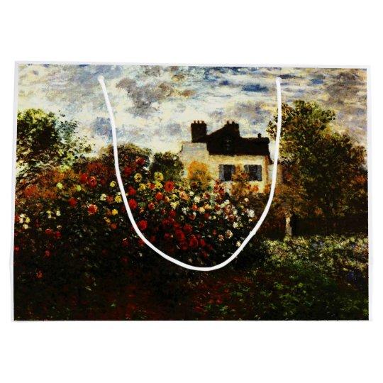 Claude Monet-Monet's Garden at Argenteuil Large Gift Bag