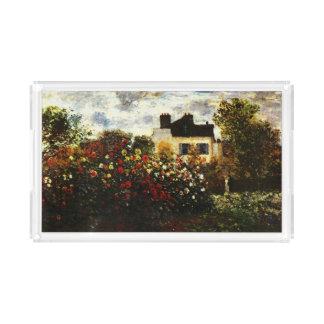 Claude Monet-Monet's Garden at Argenteuil Serving Tray