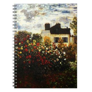 Claude Monet-Monet's Garden at Argenteuil Spiral Notebooks