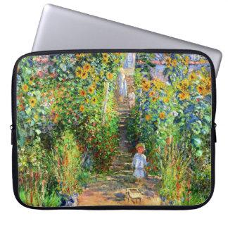 Claude Monet: Monet's Garden at Vétheuil Laptop Sleeve