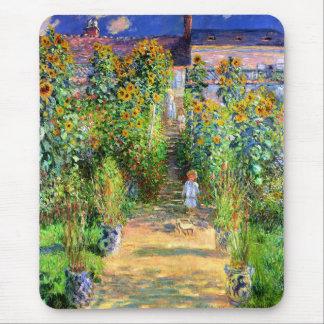 Claude Monet: Monet's Garden at Vétheuil Mouse Pad
