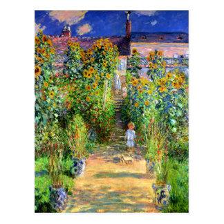 Claude Monet: Monet's Garden at Vétheuil Post Cards