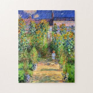 Claude Monet: Monet's Garden at Vétheuil Puzzles