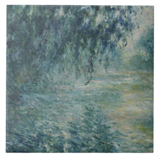 Claude Monet - Morning on the Seine Ceramic Tiles