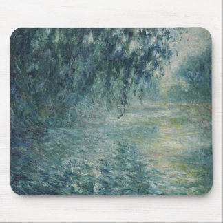Claude Monet - Morning on the Seine Mouse Pad
