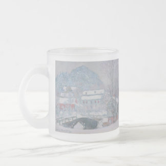 Claude Monet Frosted Glass Mug